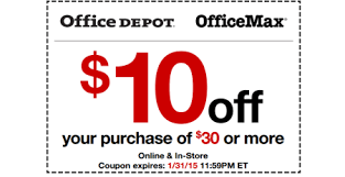 $10 off $30 Purchase fice Depot Coupon Print Now