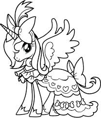 Exciting My Little Pony Coloring Pages Rarity Fee Princess Page Color Print Kids