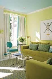 Grey Yellow And Turquoise Living Room by Timothy Mathergreen Walls With Turquoise Blue Ceiling White
