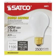 satco s3971 100 watt frosted finish incandescent service