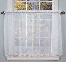Sheer Curtains For Traverse Rods by Hathaway Embroidered Semi Sheer