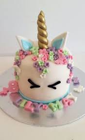 cake decorations edible unicorn horn ears name age 80 flowers cake topper