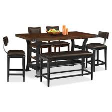 Value City Furniture Kitchen Table Chairs by Newcastle Counter Height Table 2 Chairs 2 Stools And Bench