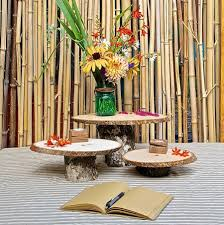 Set Of 3 Rustic Pedestal Serving Cake Stands Wooden Cupcake Stand Wood Tree Slice Centerpieces Wedding Decorations Rounds