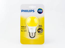 philips non dimmable 8w yellow a19 bug light led bulb bc8a19 led