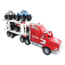 100 Mini Monster Truck Amazoncom Toy With Trailer Towing 4 S Play