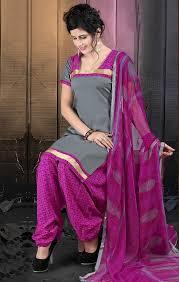 Buy Cotton Patiala Suits Design 2016 Latest Neck Designs For Salwar Kameez