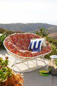 Hanging Papasan Chair Frame by Furniture Hanging Outdoor Papasan Chair With White Cushion Seat