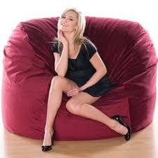 Jaxx Sac Bean Bag Chair by Bean Bag Chair Blue Faux Suede Lounge Furniture 5 Feet Large