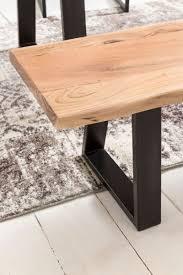 esszimmer bank gaya baumstamm massivholz akazie 180 x 45 x 40 cm robuste naturholz küchenbank mit hoher stabilität echtholz essbank mit baumkante
