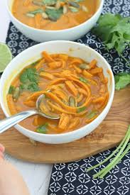 Thai Pumpkin Curry Soup Recipe by Pumpkin Coconut Curry With Sweet Potato Noodles Whole30