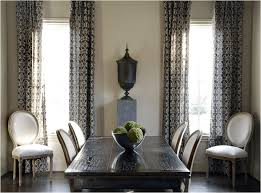Grey Dining Room Curtains Decor Ideas And Showcase Design Foxy Decorating