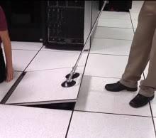 metal floor tile lifter for raised floors in data centre computer