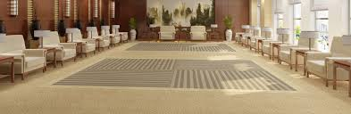 Waiting Area With Patterned Carpet