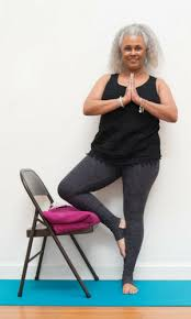 Tree Pose With Chair