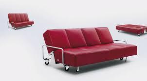 canap sur roulettes canapé lit contemporain en cuir 4 places by frederick