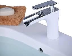 beelee wasserhahn weiß und chrom badarmatur waschbecken waschbecken armatur einhebelmischer badarmatur mischbatterie armaturen für bad