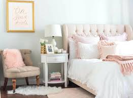 pale pink living room bedroom pale pink armchair navy blue accent