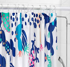 lasjon ikea duschvorhang wasserabweisend 71 x 71 cm blau weiß
