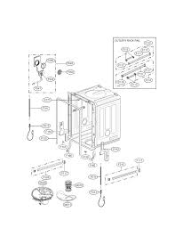 Tub Drain Assembly Diagram by Lg Dishwasher Parts Model Ldf7774st Sears Partsdirect