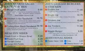 Mango Joe s menu Picture of SeaWorld Orlando Orlando TripAdvisor