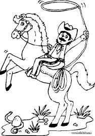 Cowboy On Bucking Horse Coloring Page