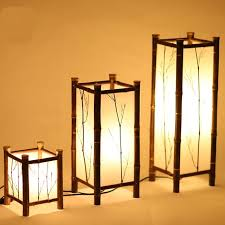 Japanese Floor Lamp Dining Room Bedroom Bamboo Chinese Decorative ZH Zb9