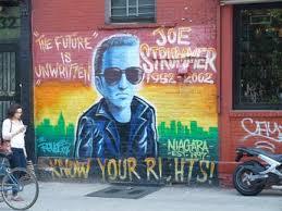 Joe Strummer Mural East Village by St Mark U0027s Place Greenwich Village Forgotten New York
