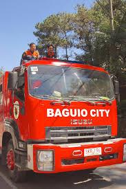 Download Baguio City IZUZU Fire Truck Editorial Stock Image