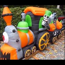 Disney Halloween Airblown Inflatables by 16 Foot Airblown Inflatable Halloween Train