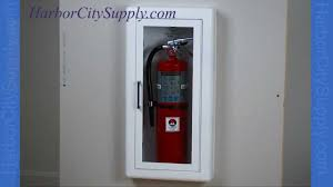 Recessed Fire Extinguisher Cabinet Mounting Height by Semi Recessed Fire Extinguisher Cabinet Jl Industries Youtube