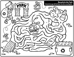 Coloring Pages Recycling Color AZ