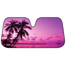Purple Tropic Island Sunset Auto Sun Shade For Car SUV Truck ... Weathertech Windshield Sun Shade Youtube Amazoncom Truck 295 X 64 Large Pout Spring Shade Cheap Auto Find Tfy Universal Car Side Window Protects Your Universal Fit Car Side Window Sun Shades Protect Oxgord Sunshade Foldable Visor For Static Cling Sunshades 17 X15 Block Uv Protector Cover Blinds Shades Retractable Introtech Ultimate Reflector Custom Fit Car Cover Sunshade Sun Umbrella By Mauto 276 X 512 Happy