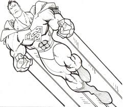 Coloring PageSuperman Color Page Pages Superman
