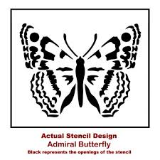 9 Admiral Butterfly Stencil Wall Art Actual