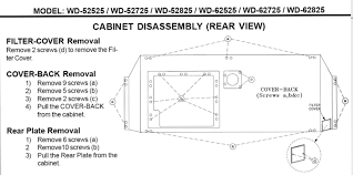 Mitsubishi Projector Lamp Replacement Instructions by I Have A Mitsubishi Wd 62725 Dlp I Was Replacing The Projection