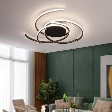 led deckenleuchte dimmbar mit fernbedienung wohnzimmer küche kronleuchter moderne acrylspirale blumenform design deckenleuchte white