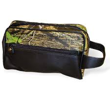 100 Mossy Oak Truck Accessories Leather Travel Bag Shaving Toiletry Kit Tote Camo Chique