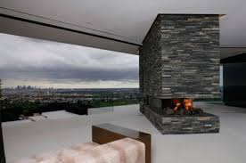 fireplace in the middle of room modern interior design fbeed com