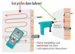 bohren ind wand boden und decke vorsicht vor elektroleitungen