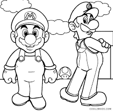 Print Coloring Mario And Luigi Pages To On Printable For Kids