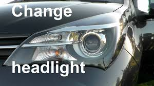 toyota yaris front light bulb change change a headlight parking