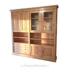 wohnzimmerschrank mehrzweckschrank büromöbel mit zahnleiste massivholz landhausstil zerlegbar