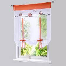2018 bonprix europäischen stickerei stil eule muster krawatte up römischen fenster vorhang cafe küche vorhänge tab top fenster vorhänge