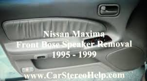 How To Nissan Maxima Front Bose Car Speaker Removal 1995 - 1999 ... 2017altimabose_o Gndale Nissan How Bose Built The Best Car Stereo Again Is Making Advanced Car Audio Systems Affordable Digital Amazoncom Companion 2 Series Iii Multimedia Speakers For Pc Rear Door Panel Removal Speaker Replacement Chevrolet Silverado 1 Factory Radio 0612 Pathfinder Audio System Control Gmc Sierra Denali Automotive 2016 Cadillac Ct6 Panaray Gm Authority Bose Speakers Graysonline To Maxima Front 1995 1999