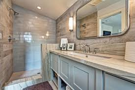 wood tile shower wall best pebble floor and wood tile with wood