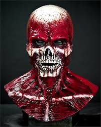 Halloween Silicone Half Masks by Yorick Bloody Skull Silicone Halloween Mask The Horror Dome