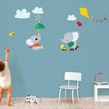 stickers muraux chambre bebe stickers muraux decoration chambre bebe elephant cerf volant achat