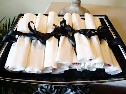 Graduation Decorations 2015 Diy by Wrapped The Flatware For The Graduation Party To Look Like