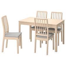 ekedalen tisch und 4 stühle birke orrsta hellgrau ikea